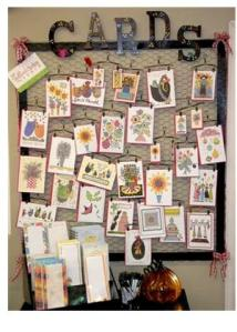 Easy, inexpensive, quick and eye-catching display idea for greeting cards!
