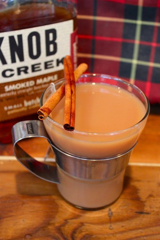 Smoked Maple Bourbon Chai Tea Toddy
